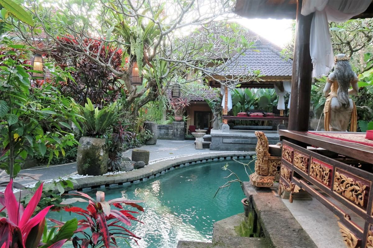 Tropische und guenstige Unterkunft in Ubud, Bali