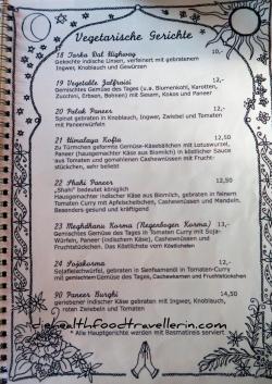 Maharani Speisekarte 3