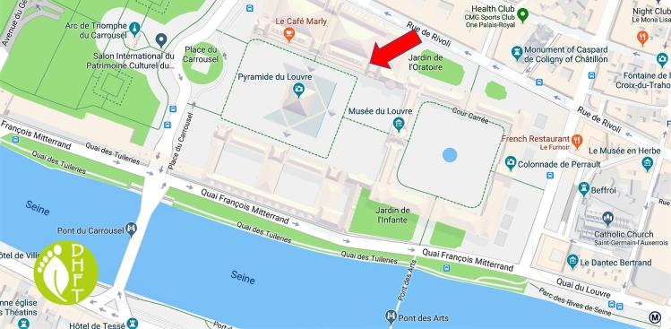 Paris Google Map Louvre Museum DEU